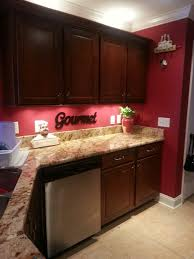 Red Walls In Kitchen - i love the fat chef look especially with my red kitchen ideas