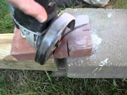 How To Cut Patio Pavers Simple Diy Curved Cut In Patio Pavers With Harborfreights Grinder
