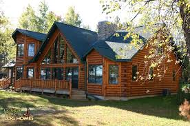 golden eagle log and timber homes log home cabin pictures lake side exterior