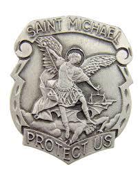 amazon com catholic gift archangel saint st michael police badge