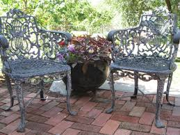 Antique Cast Iron Patio Furniture 75 Best Cast Iron Outdoor Furniture Images On Pinterest Gardens