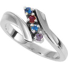 7 mothers ring silver 1 to 7 stones s ring