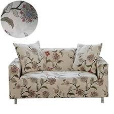 housse de canapé amazon enzer housse de canapé salon couverture fleurs oiseau extensible