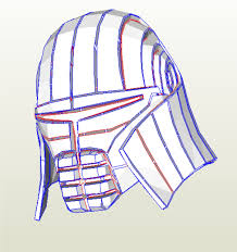 batman helmet foam template from navarocraftman on etsy studio