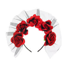 day of the dead headband s day of the dead flower headband day of the dead