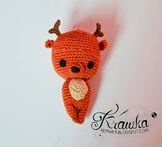 Amigurumi Christmas Ornaments - krawka reindeer christmas tree ornament crochet free pattern