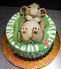 order a cake from a local bakery simba baby shower baby simba