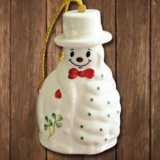 2017 belleek merry snowman ornament sterling collectables