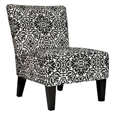 minimalist living room style with davis black white accent chair