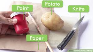 how to make a stamp with pictures wikihow