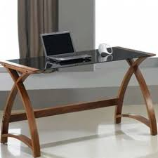 Wooden Laptop Desk by Glasstop Modern Wooden Walnut Veneer Workstation Table