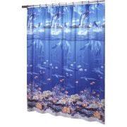 Shower Curtain Vinyl - ex cell home fashions sea life vinyl shower curtain walmart com