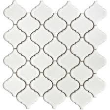 Arabesque Backsplash Tile by Arabesque White Carrara Marble Stone Tile