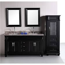 design element hudson 60 inch double sink bathroom vanity set with