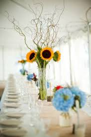 outstanding sunflower wedding table arrangements 15 on table
