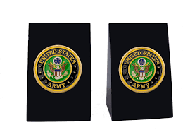 Engraved Bookends United States Army Marble Bookends Personalized Gift