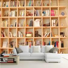 3d Bookshelf Photo Wallpaper 3d Bookshelf Mural Living Room Study Background