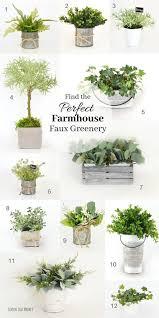 top of kitchen cabinet greenery the best faux farmhouse greenery lemon leaf market