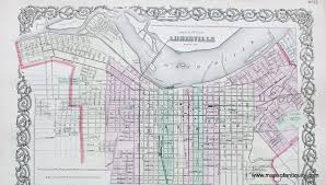 Louisville Map The City Of Louisville Kentucky Antique Maps And Charts