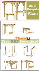 10x10 pergola plans pdf download construct101