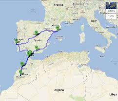 Portugal Spain Map by Madrid To Marrakech The Maps