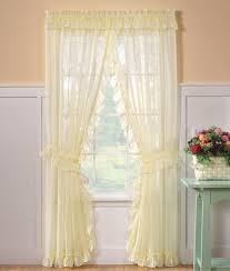 Sheer Ruffled Curtains Emelia Sheer Ruffled Priscilla Curtains Available In White Or