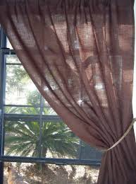 Brown Burlap Curtains Lined Burlap Curtains Diy Home Design Ideas