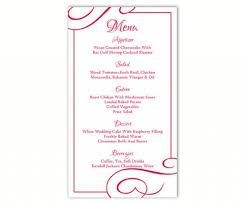 menu template wedding wedding menu template diy menu card template editable text word