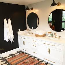 Black And Gold Bathroom Rugs So Beyond Thrilled To This Awesome Black And White Bohemian