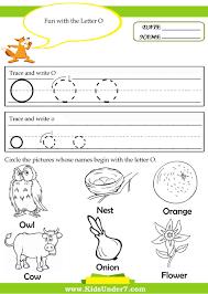 kindergarten worksheets for the letter o google search