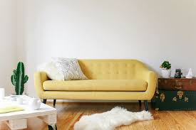 canapé ritchie ritchie un canapé 3 places jaune ocre yellow sofa and