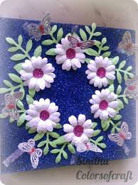 Plate Decoration For Engagement Colors Of My Crafty World Punch Flowers Aarathi Plate