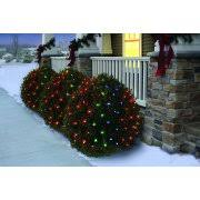 holiday time net light set green wire multi bulbs 150 count