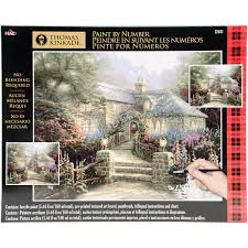 thomas kinkade paint by number kits 16 inch x 20 inch the hollyhoc