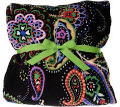 vera bradley signature print throw blanket page 1 qvc