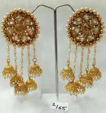 new jhumka earrings indian designer gold plated 5 jhumka earrings ethnic