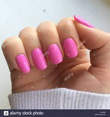 barbie pink gel nails stock photo royalty free image 310509633