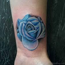 22 cool blue rose tattoos on wrist