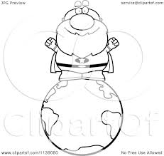 cartoon clipart of a black and white bald super senior man on the
