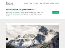 corporate portfolio u2014 free wordpress themes