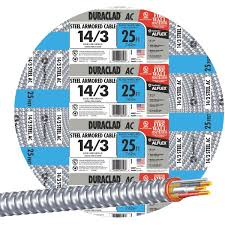 Southwire In Wall Digital 7 by Southwire 14 3 Steel Armored Cable 55278521 Taylors Do It Center