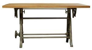 Iron Drafting Table 50 L Crank Base For Desk Drafting Table Industrial Design Cast