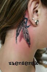 indian feathers tattoo behind ear u2013 images free download