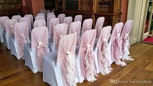 blush chair sashes blush pink wave details chic wedding supplies chair