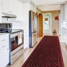 Standard Runner Rug Sizes Kitchen Runner Rug In Red Available In Custom Sizes Up To 30m Length