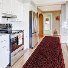 Custom Runner Rugs Kitchen Runner Rug In Red Available In Custom Sizes Up To 30m Length