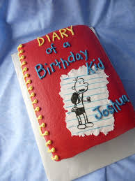 diary of a wimpy kid book cake cakecentral com
