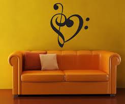 vinyl wall decal sticker music note heart 1368