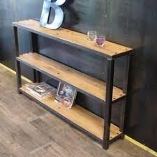 bureau console bois console bois et mtal meilleur de bureau zero bois fer