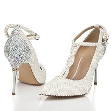 ivory shoes for wedding buy 2015 t ivory wedding shoes with rhinestone pointed toe